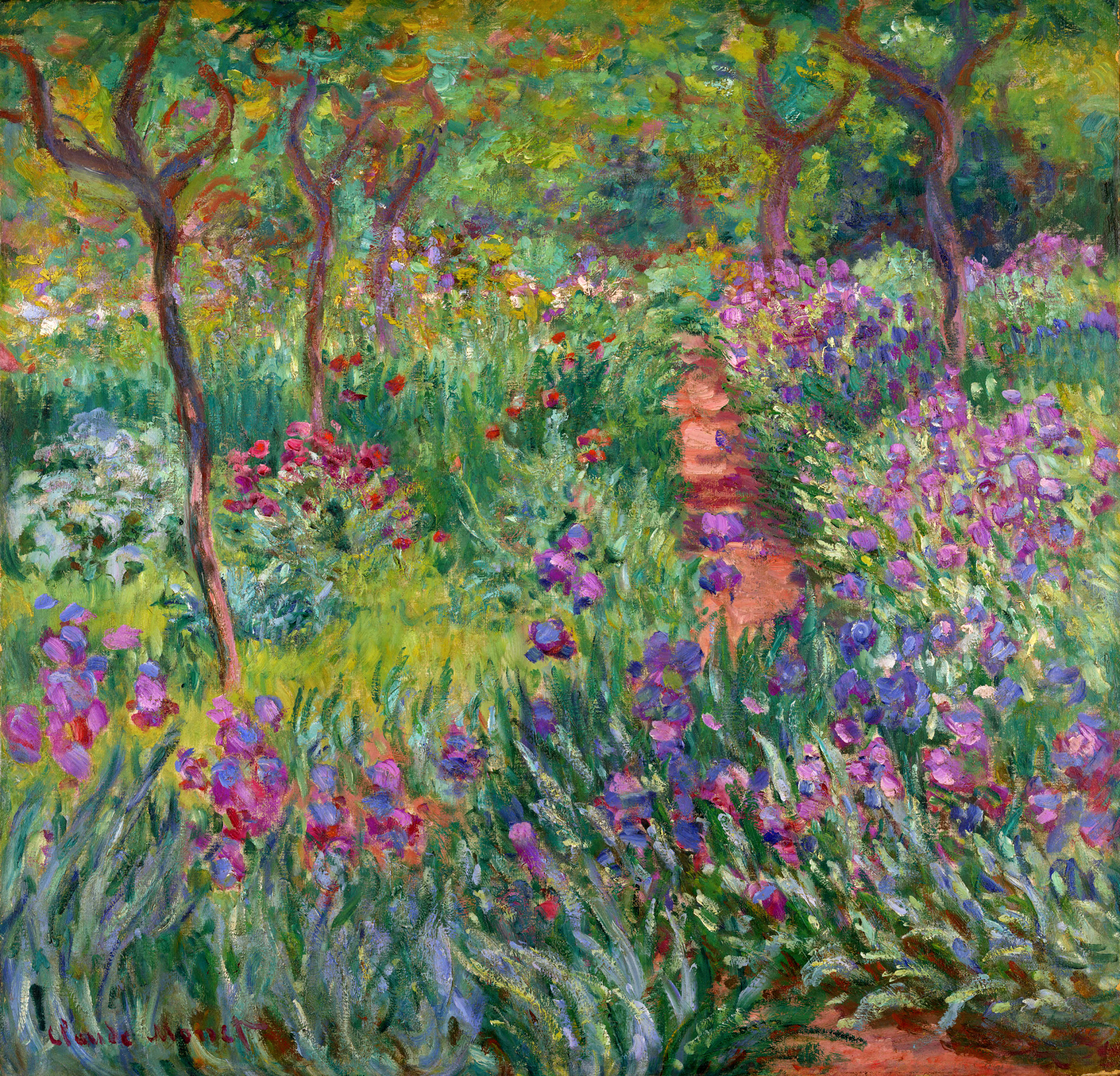 The Iris Garden At Giverny, 1899   1900   Claude Monet