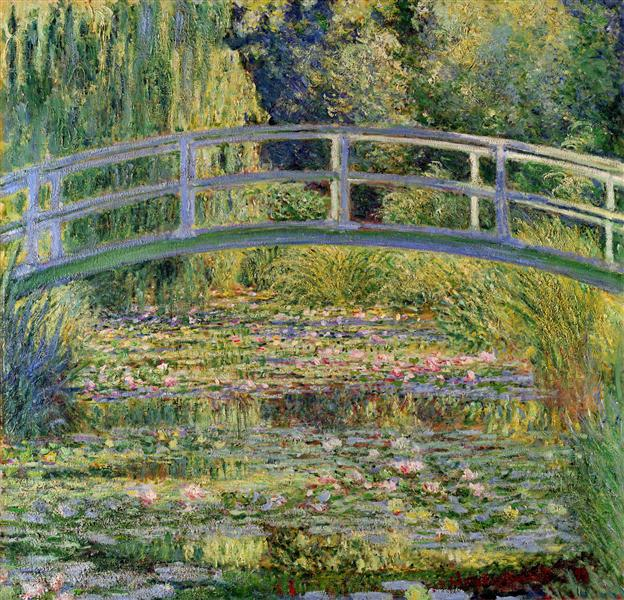 The Japanese Bridge (The Water-Lily Pond), 1899 - Claude Monet