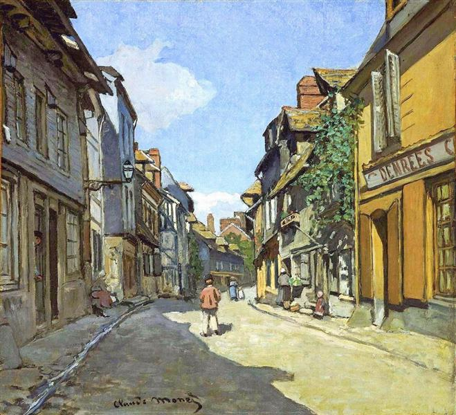 The La Rue Bavolle at Honfleur, 1864 - Claude Monet