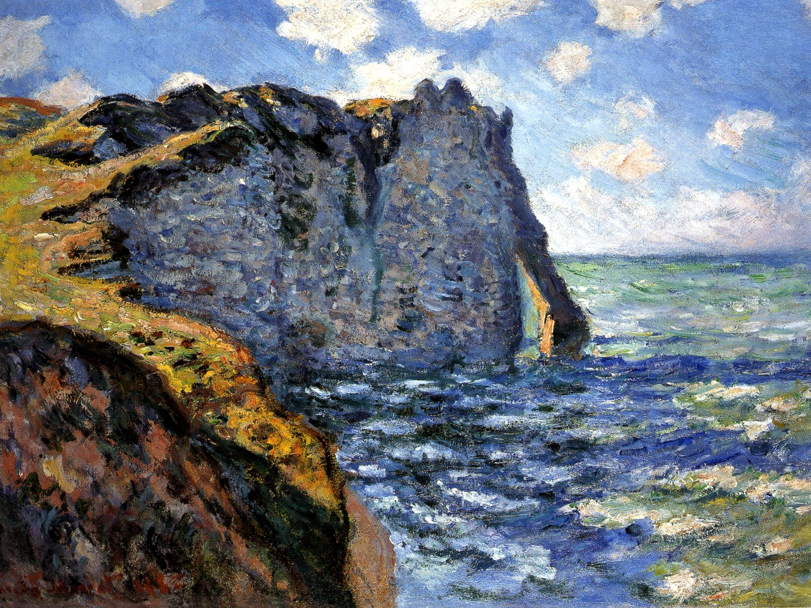 The manneport 1882 claude monet for Claude monet impressionist paintings