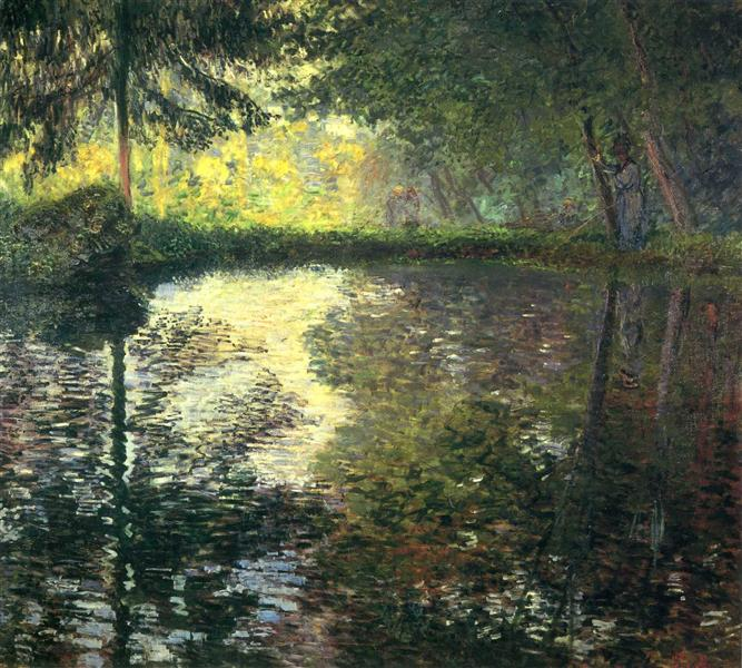 The Pond at Montgeron, 1876 - Claude Monet