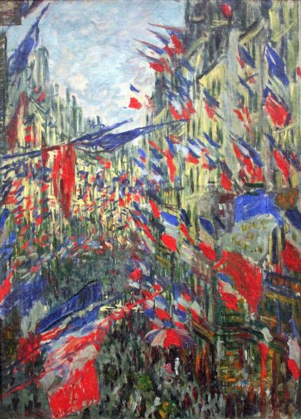 The Rue Montargueil with Flags, 1878 - Claude Monet