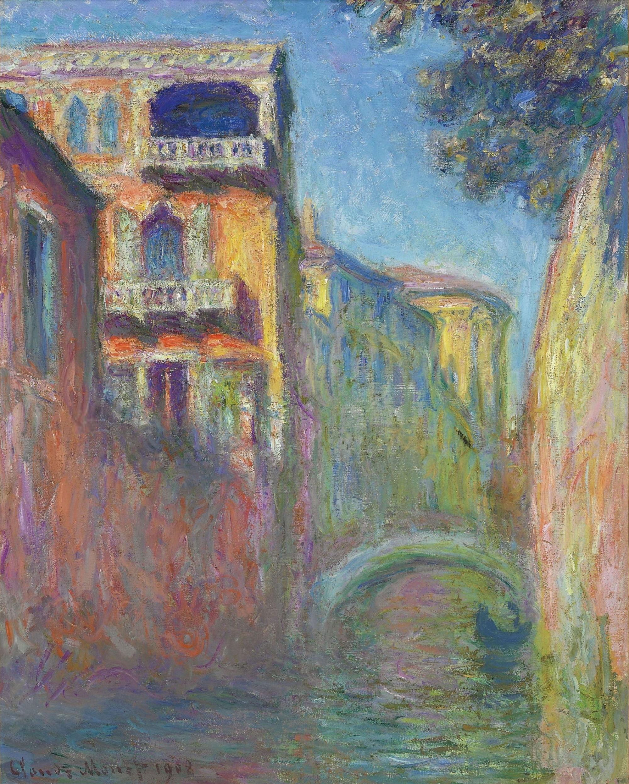 Venice, Rio de Santa Salute, 1908 - Claude Monet - WikiArt.org