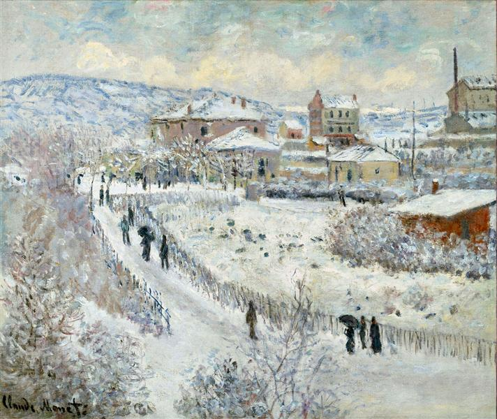 View of Argenteuil in the Snow, 1875 - Claude Monet