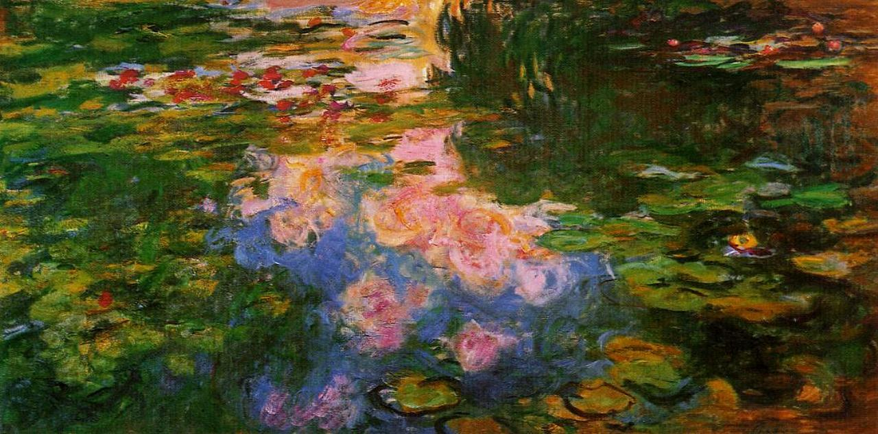 water lily pond 1917 1919 claude monet. Black Bedroom Furniture Sets. Home Design Ideas