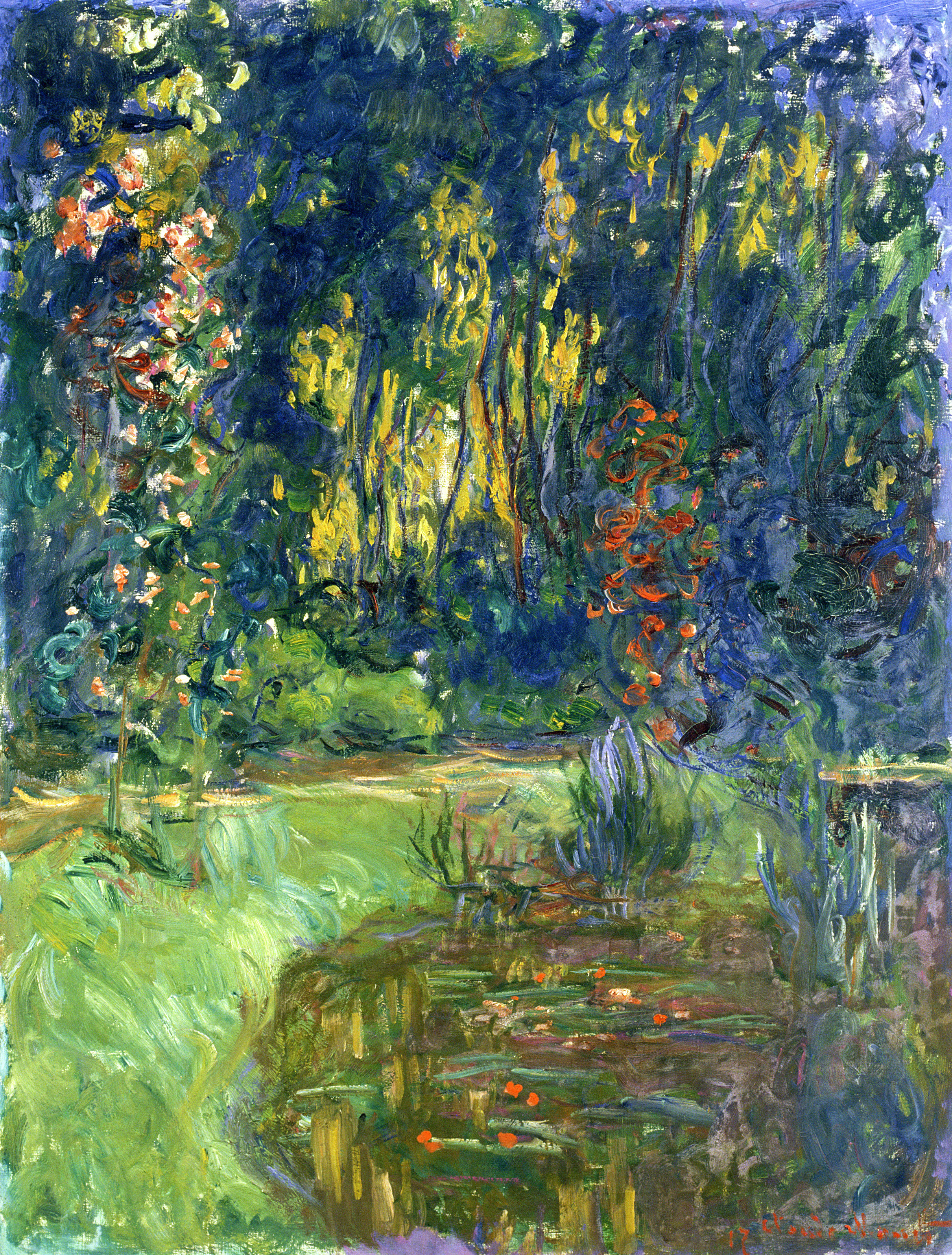 Water Lily Pond at Giverny, 1918 - 1919 - Claude Monet - WikiArt.org