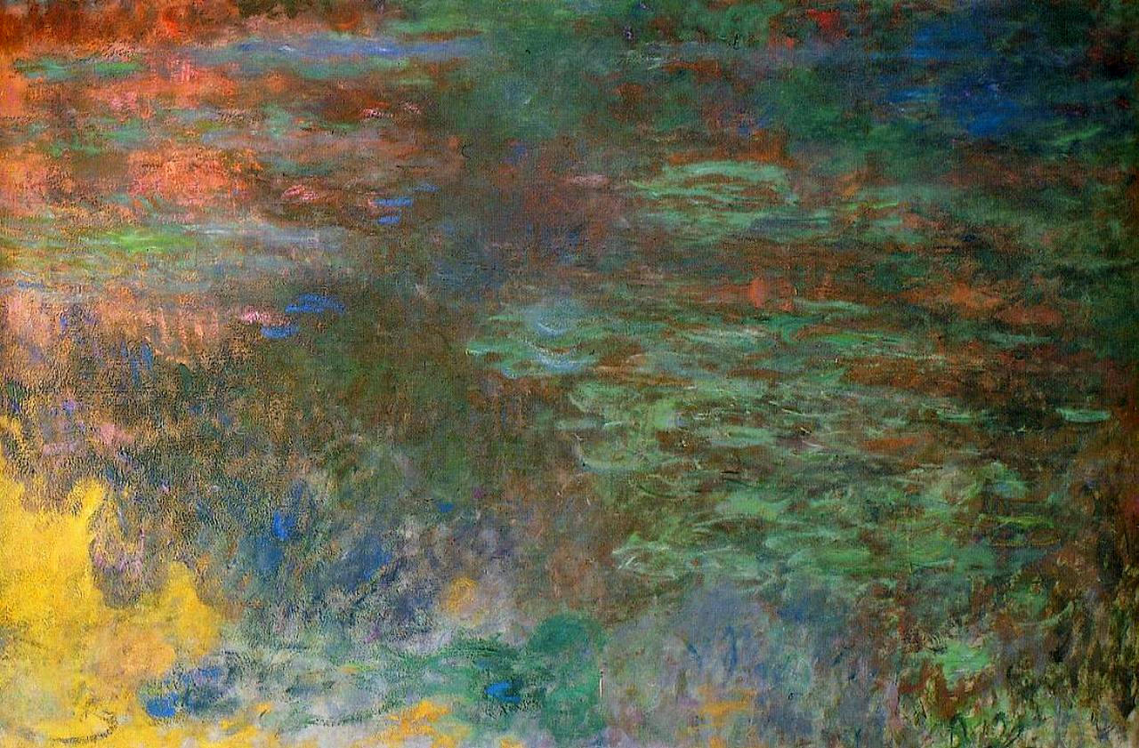 Water Lily Pond, Evening (right panel), 1920 - 1926 ...