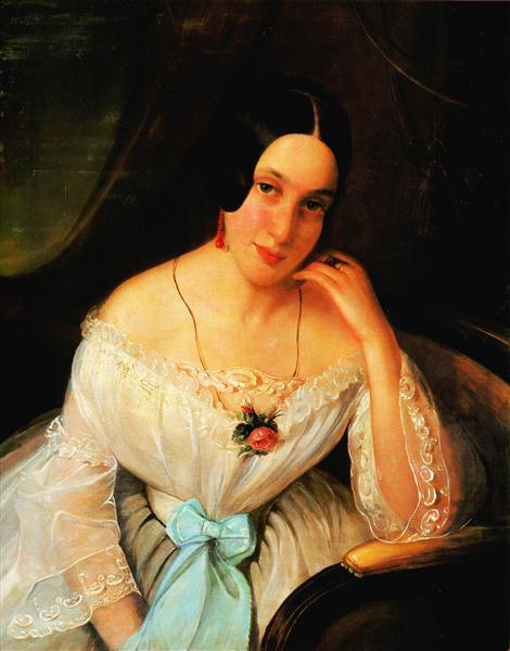Portrait of a woman, 1844 - Constantin Daniel Rosenthal