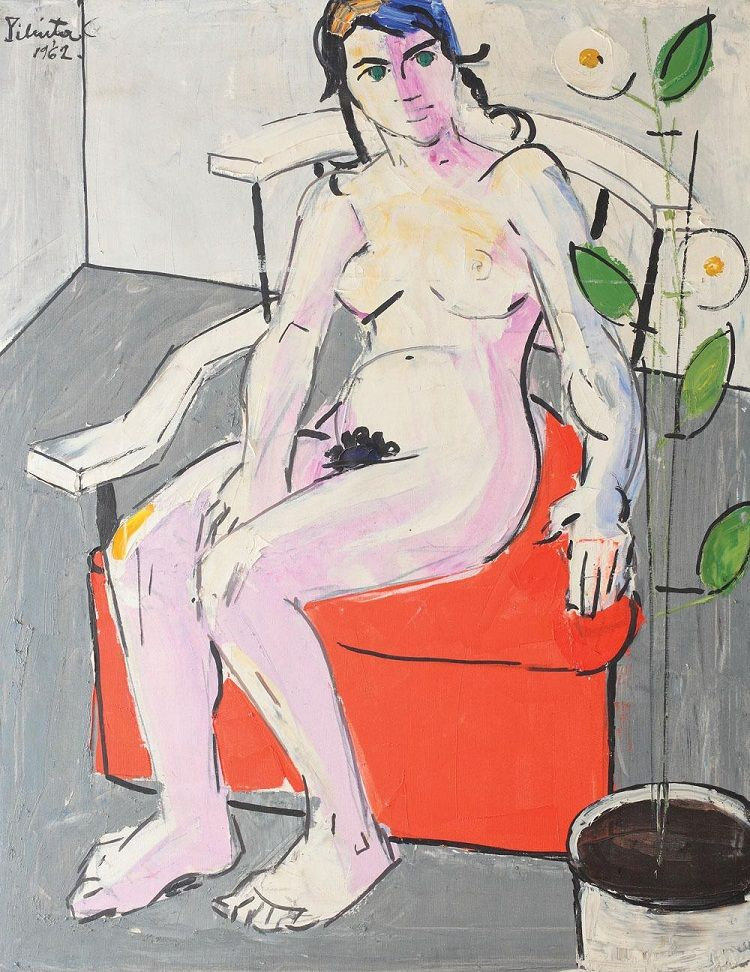 Nude with Flower