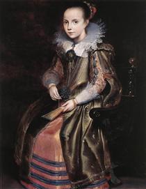 Elisabeth (or Cornelia) Vekemans as a Young Girl - Корнелис де Вос