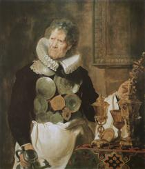 Portrait of Abraham Grapheus - Корнелис де Вос