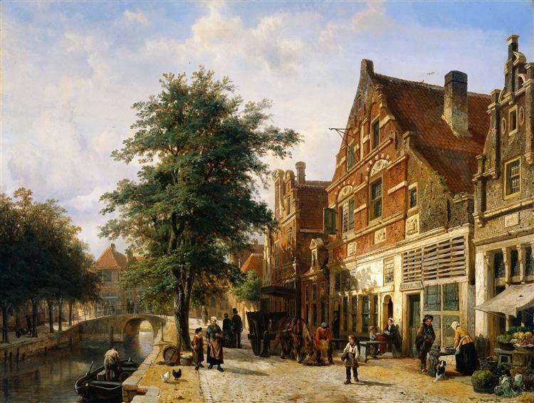 Zuiderhavendijk, Enkhuizen, 1868 - Cornelis Springer