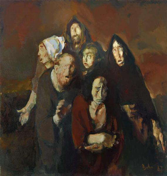 The Fear (Homage to Francisco Goya), 1987 - Corneliu Baba