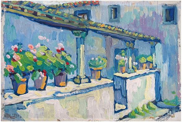 Geraniums, 1960 - Corneliu Michailescu