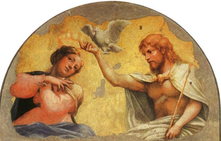 Coronation of the Virgin, c.1522 - Correggio