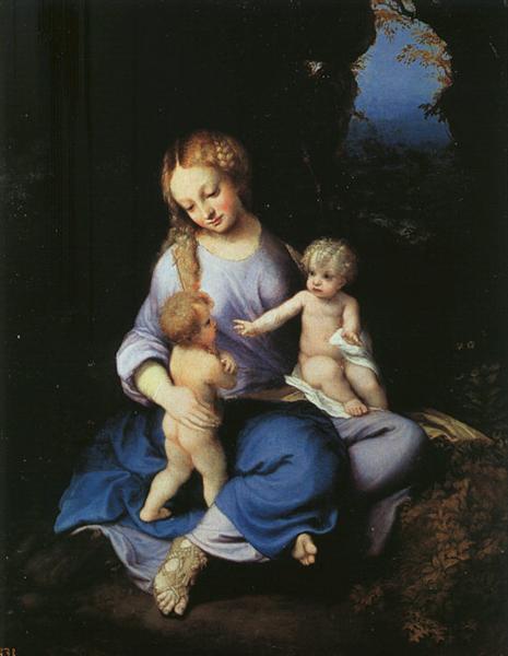 Madonna and Child with the Young Saint John, 1516 - Correggio