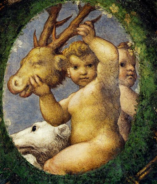 Putto With Hunting Trophy, 1519 - Correggio
