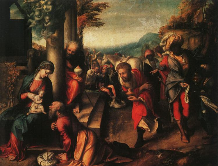 The Adoration of the Magi, 1516 - 1518 - Correggio