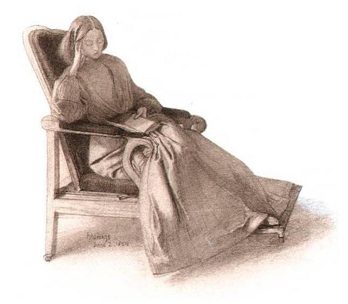 Elizabeth Siddal, 1854