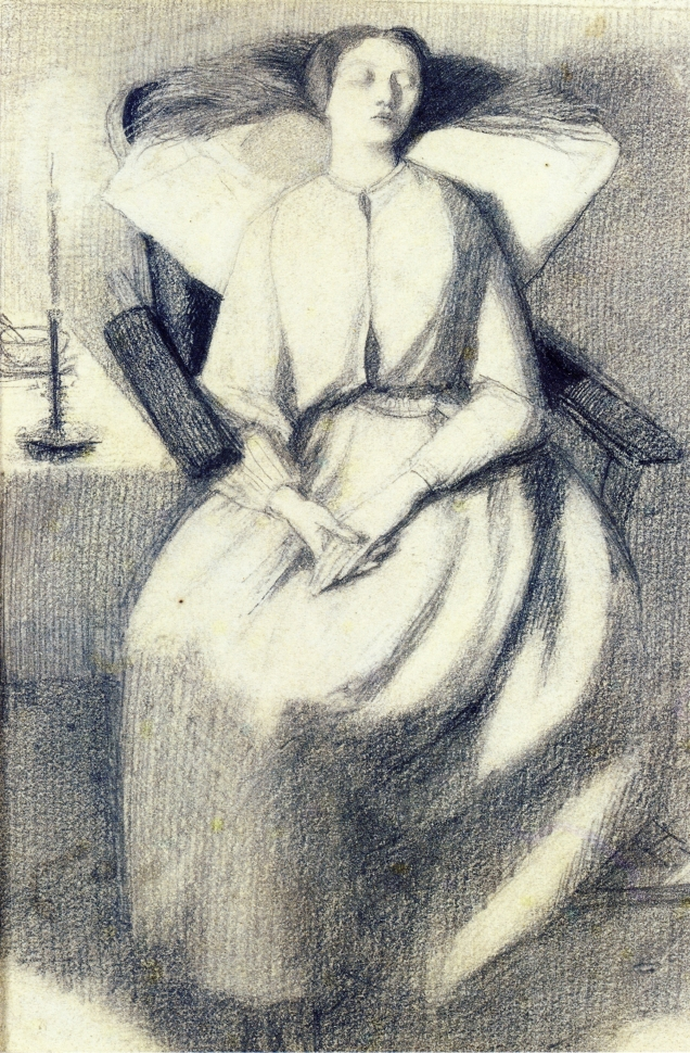 Elizabeth Siddal Seated in a Chair, 1859-1860
