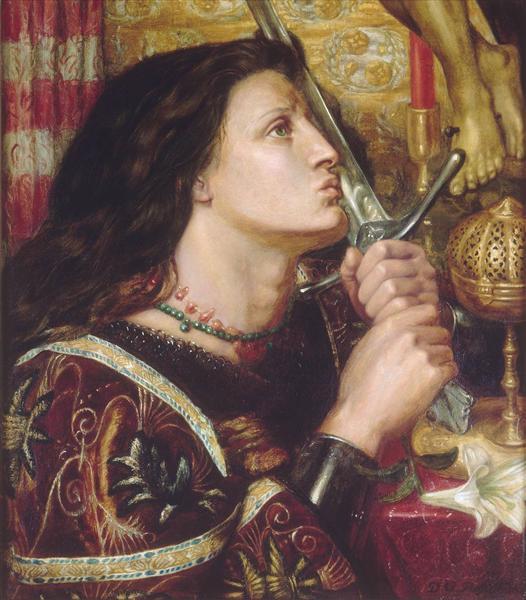 Joan of Arc Kisses the Sword of Liberation, 1863 - Dante Gabriel Rossetti