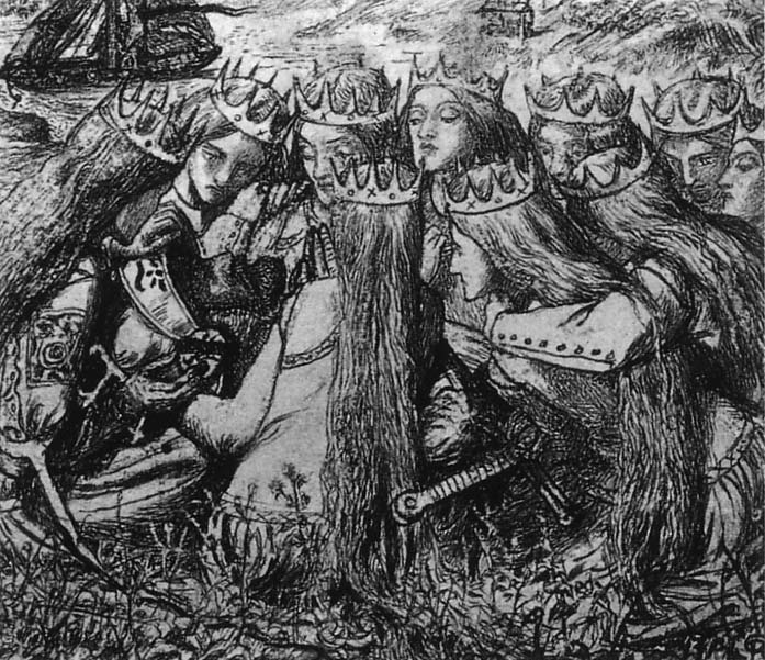 King Arthur and the Weeping Queens, 1856-1857