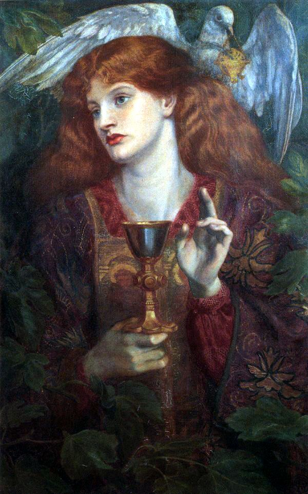 The Damsel of the Holy Grail, Dante Gabriel Rossetti (1874)
