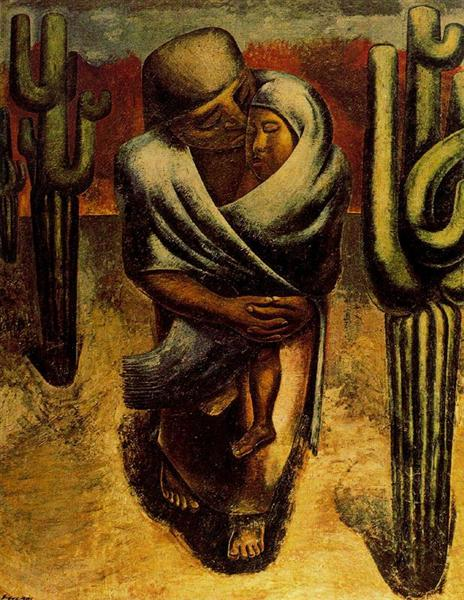 Peasant Mother, 1962 - David Alfaro Siqueiros
