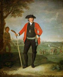 William Inglis, Surgeon and Captain of the Honourable Company of Edinburgh Golfers - David Allan