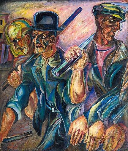 American workers, 1922 - David Burliuk