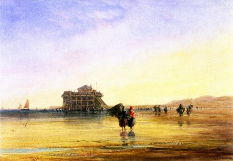 Calais Sands with Fort Rouge - David Cox