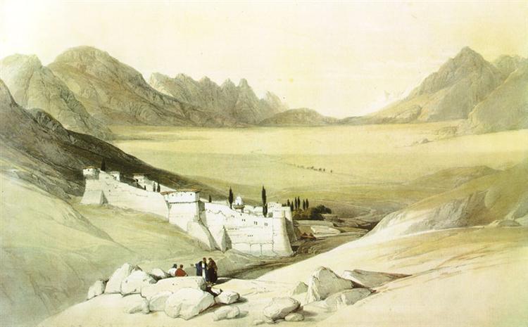 Convent of Saint Catherine, Mount Sinai - David Roberts