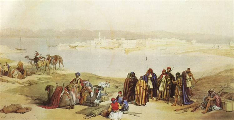 General View of Suez - Девід Робертс