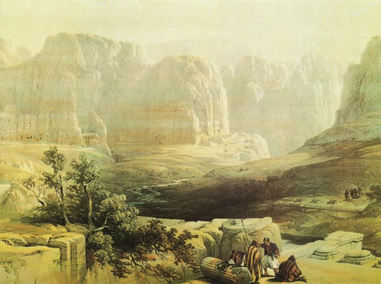 Sight of Petra, South - David Roberts