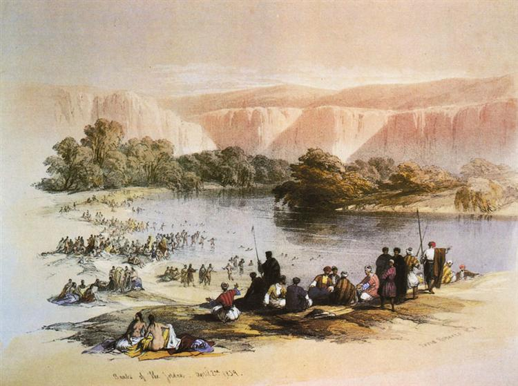The Immersion of the Pilgrims - David Roberts
