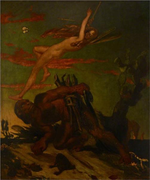 Ariel and Caliban, 1837 - David Scott