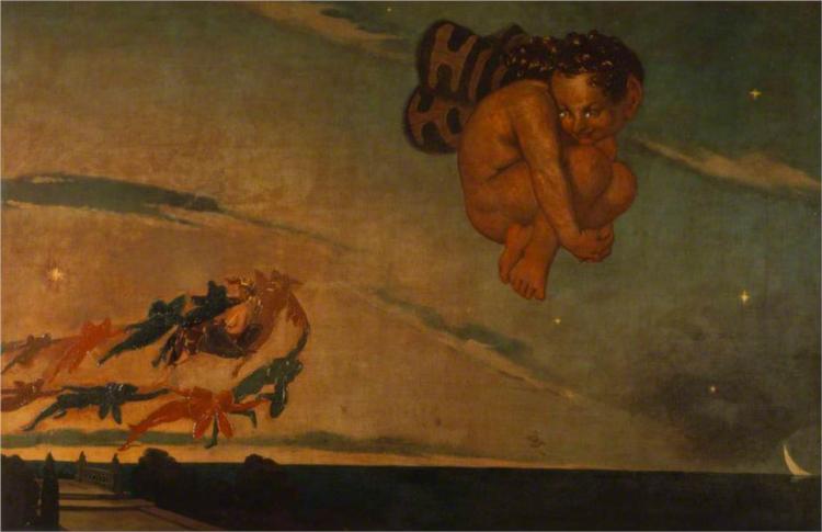 Puck Fleeing from the Dawn, 1837 - David Scott