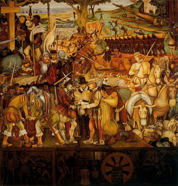 Colonisation, 'The Great City of Tenochtitlan' - Rivera Diego