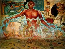 Figure Symbolizing the African Race - Diego Rivera