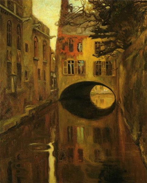 House over the Bridge, c.1909 - Diego Rivera