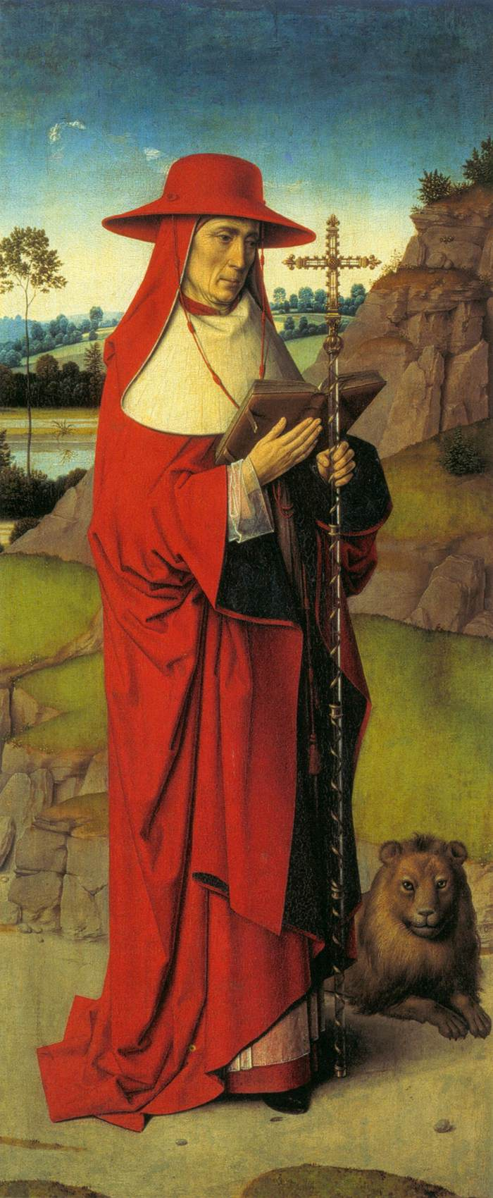 Martyrdom of St. Erasmus (left wing), 1458