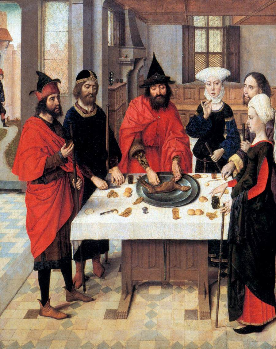 The Feast of the Passover - from the Winged altar in St. Peter in Leuven, 1465