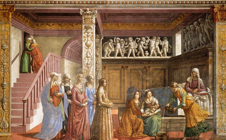 The Birth of Mary, 1486 - 1490 - Domenico Ghirlandaio