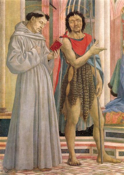 The Madonna and Child with Saints (detail), c.1445 - Domenico Veneziano