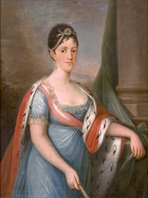 Retrato de D. Carlota Joaquina, Rainha de Portugal - Domingos de Sequeira