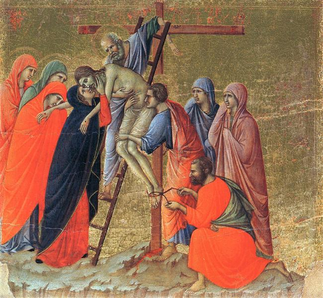 descent from the cross 1308 1311 duccio wikiart org