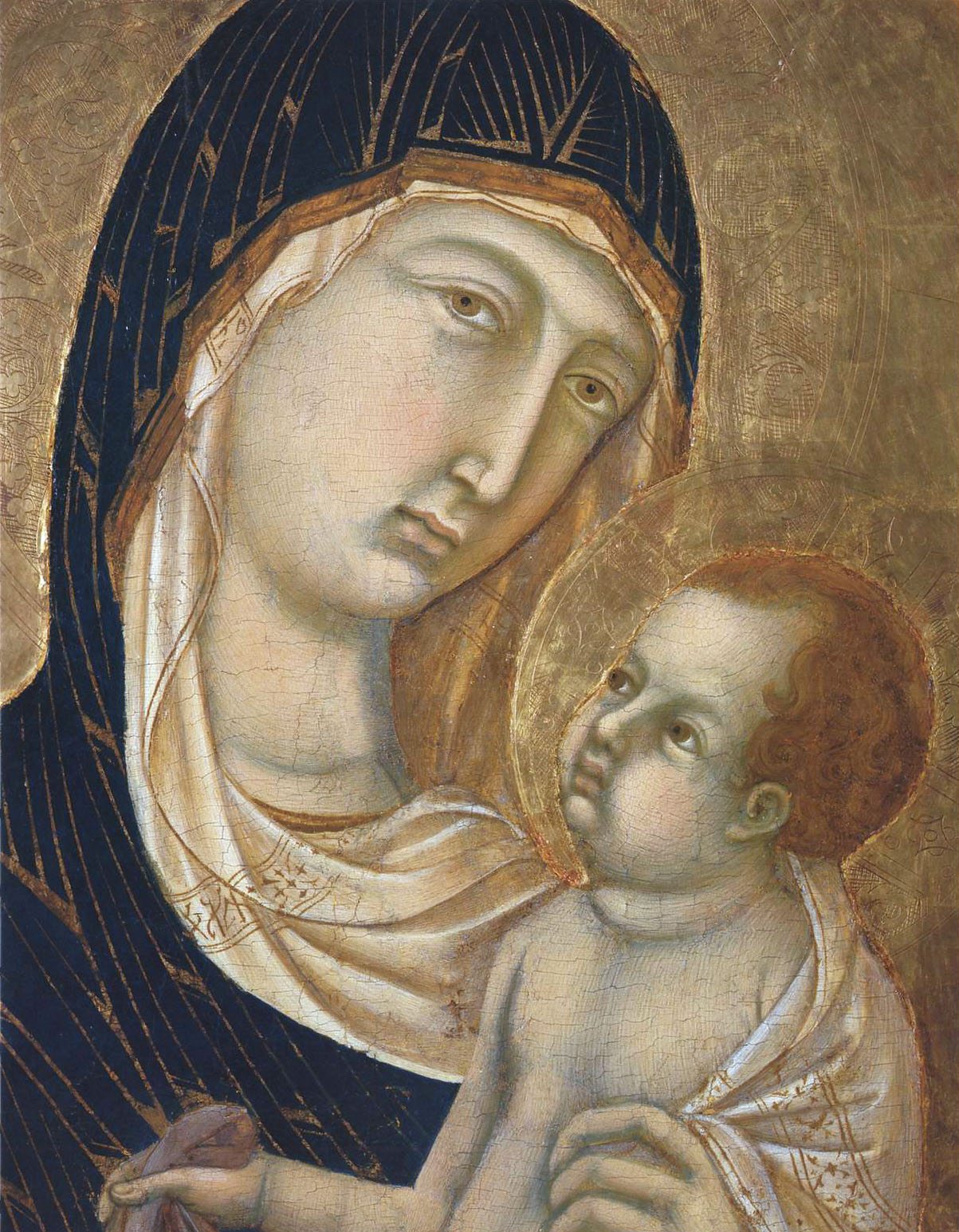 Madonna and Child (Fragment) - Duccio - WikiArt.org