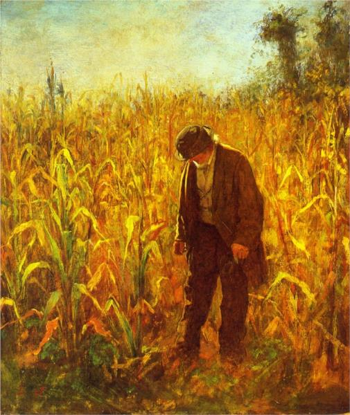 Man in a Cornfield - Eastman Johnson
