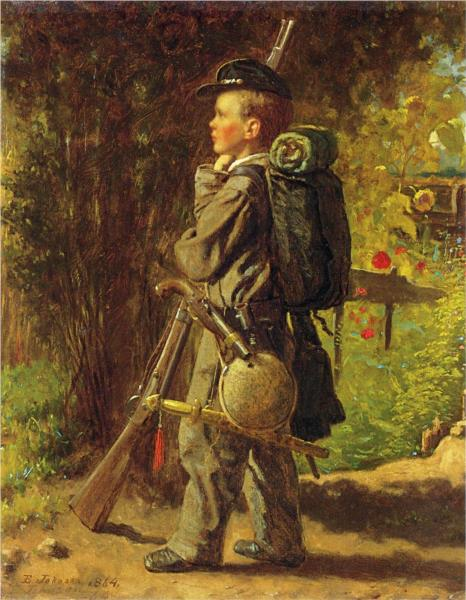 The Little Soldier - Eastman Johnson