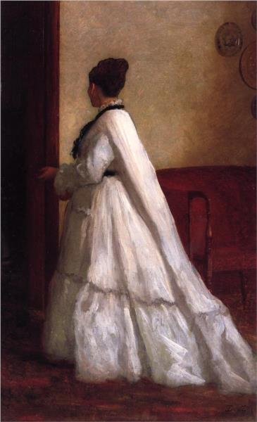 Woman in a White Dress, 1873 - Eastman Johnson